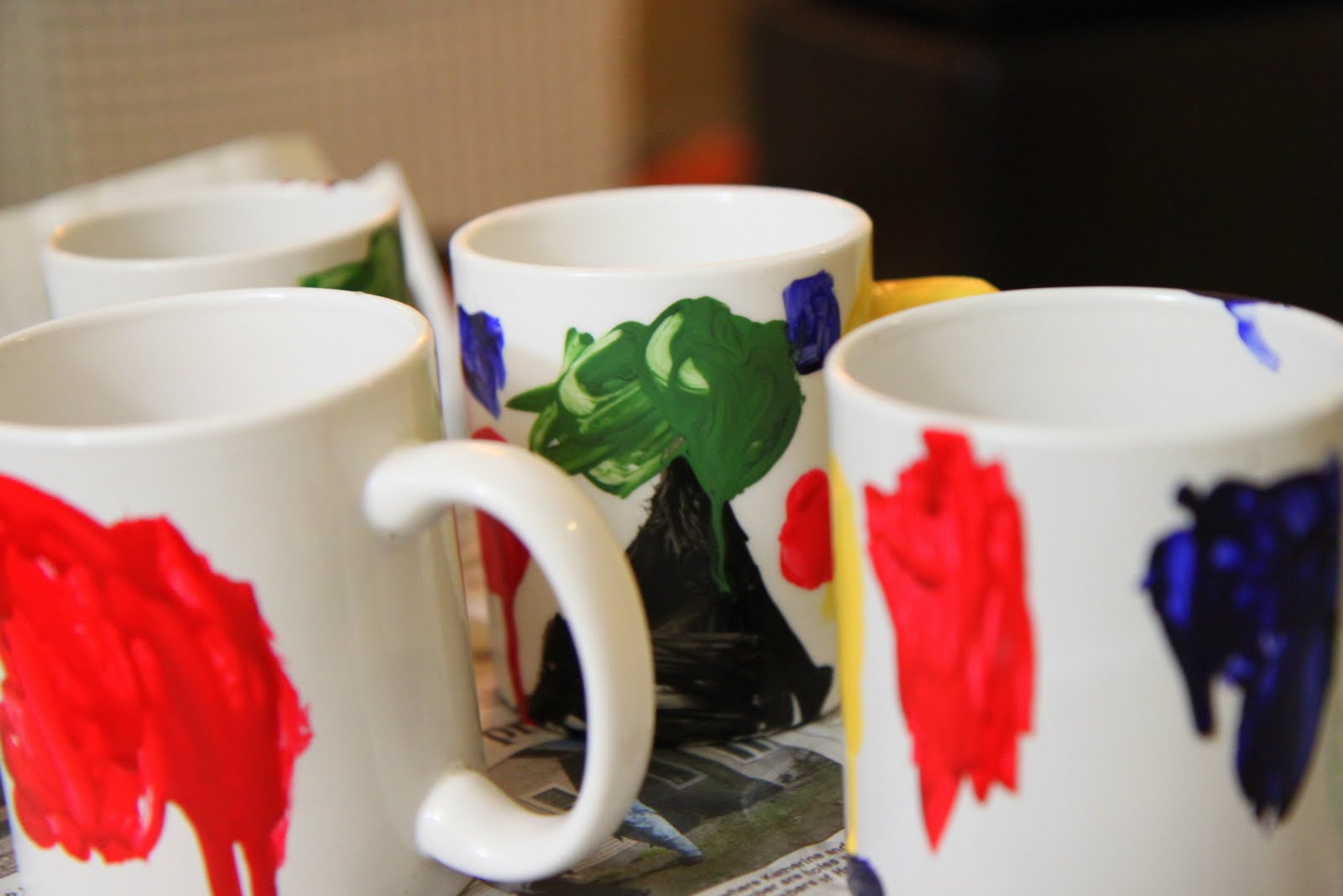 Gifts you can make hand painted mugs momadvice for How to paint a mug