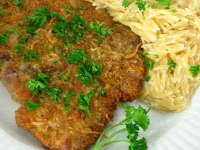 Parmesan Sage Pork Chops With Cheesy Orzo - MomAdvice