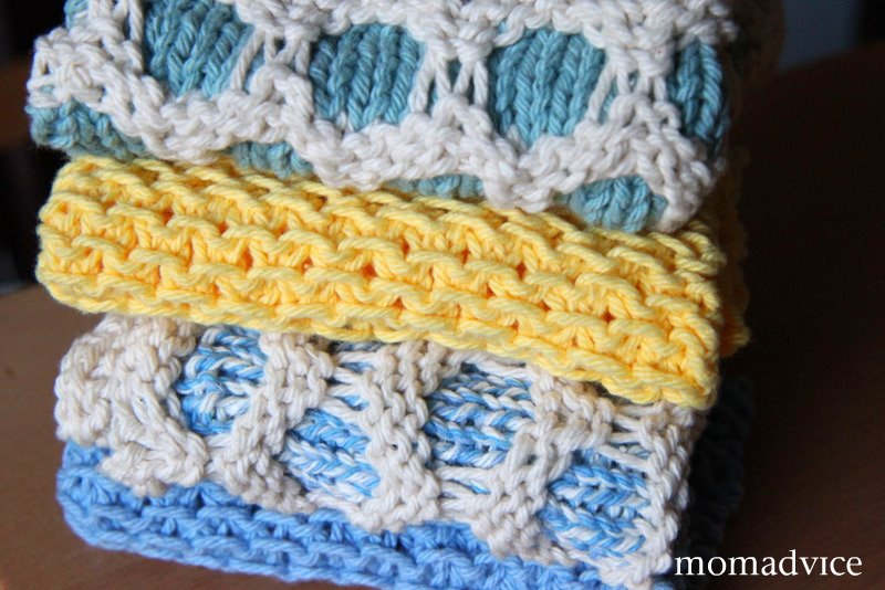 All Knitted Up: Circle & Chinese Waves Dishcloths - MomAdvice