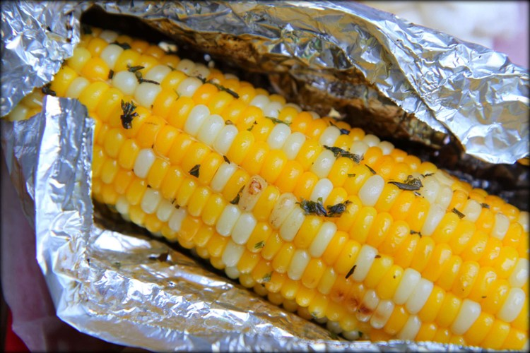 Grilling Corn on the Cob In Foil