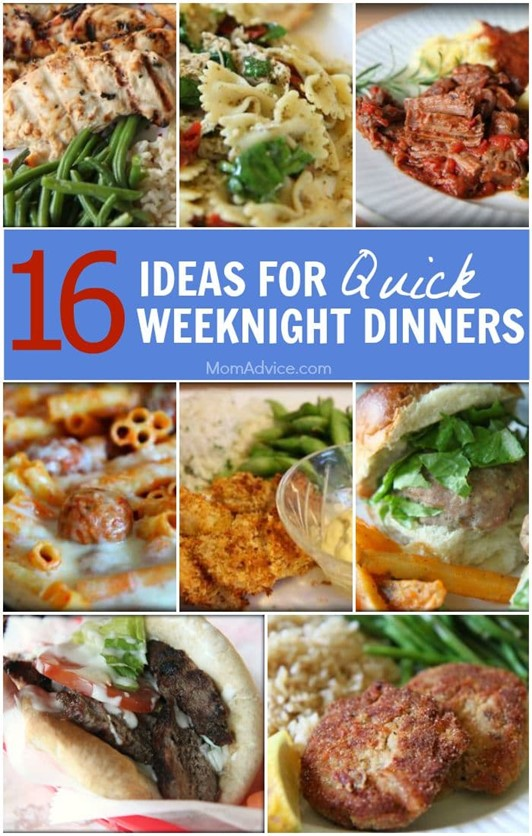 16 Ideas for Quick Weeknight Dinners