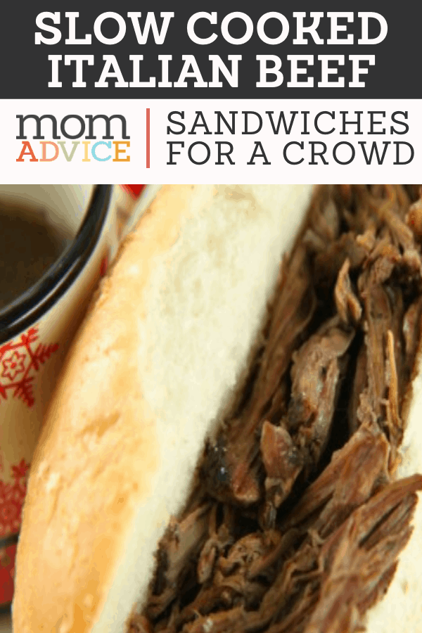 Slow Cooked Italian Beef Sandwiches  MomAdvice.com