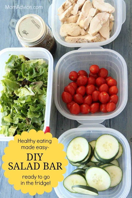 How to Make a DIY Salad Bar for Your Fridge