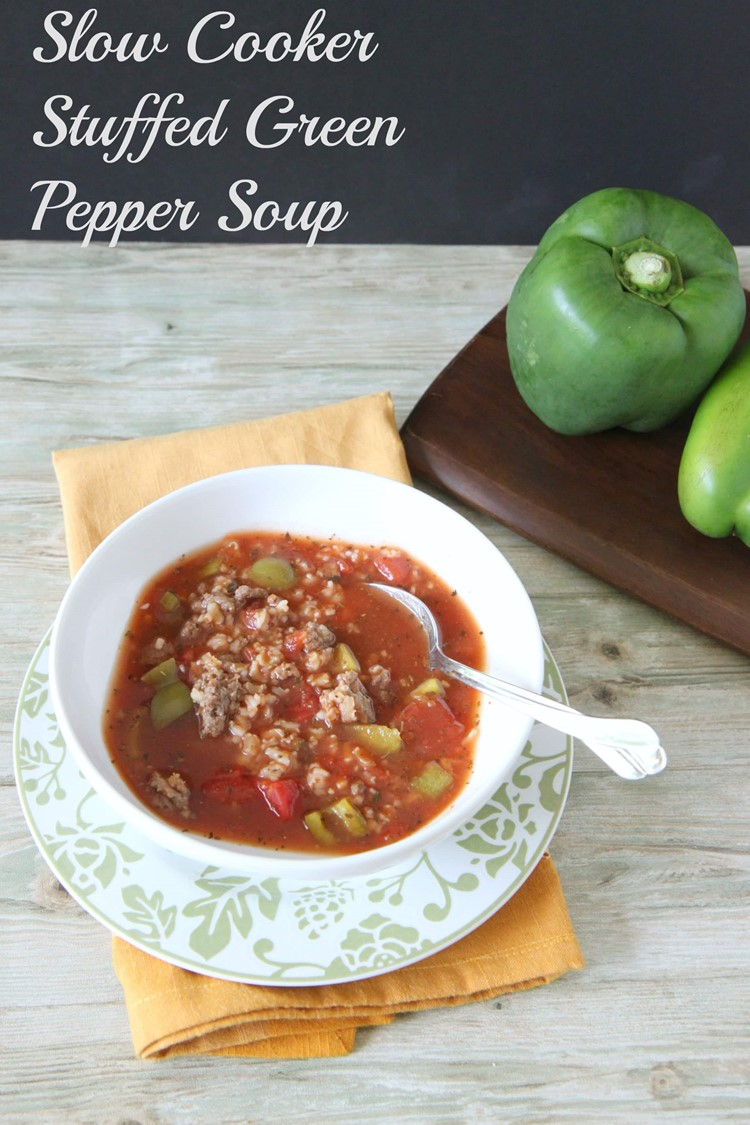 Slow Cooker Stuffed Pepper Soup from MomAdvice.com