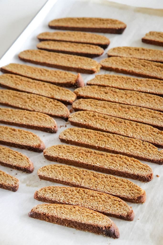 Gingerbread Biscotti Baked a Second Time