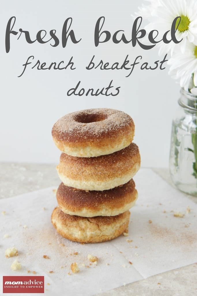Fresh Baked French Breakfast Donuts from MomAdvice.com