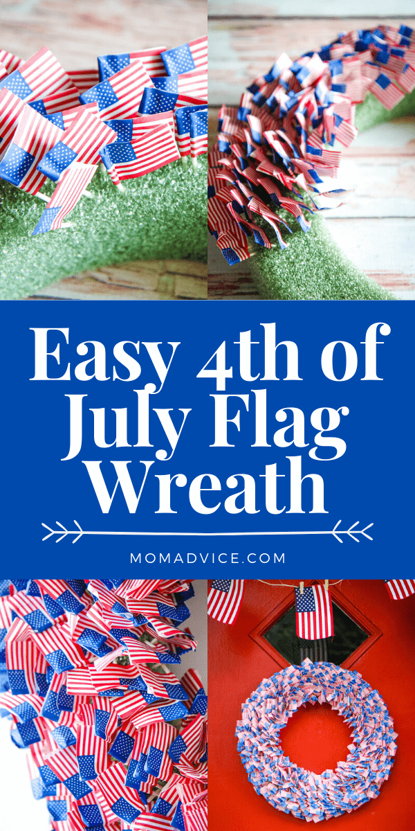 Easy 4th of July Wreath - MomAdvice
