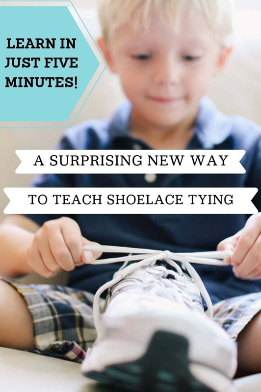 A New Way to Teach Your Child to Tie Their Shoes (VIDEO)