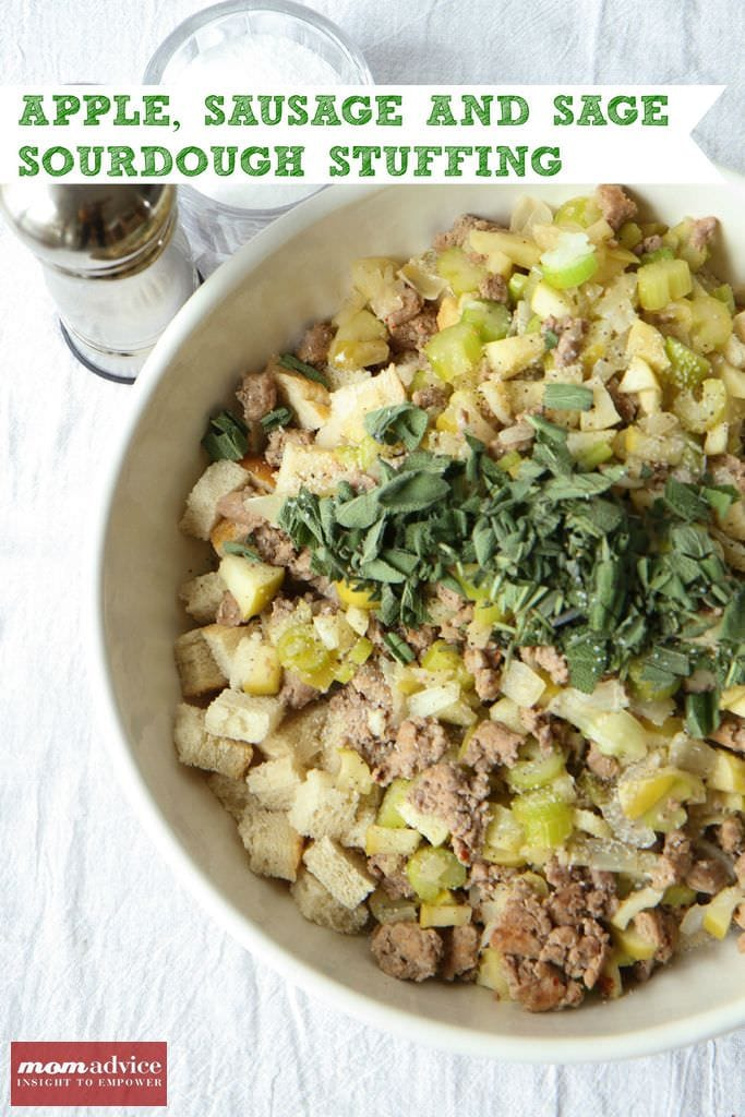 Make-Ahead Apple, Sausage, And Sage Sourdough Stuffing