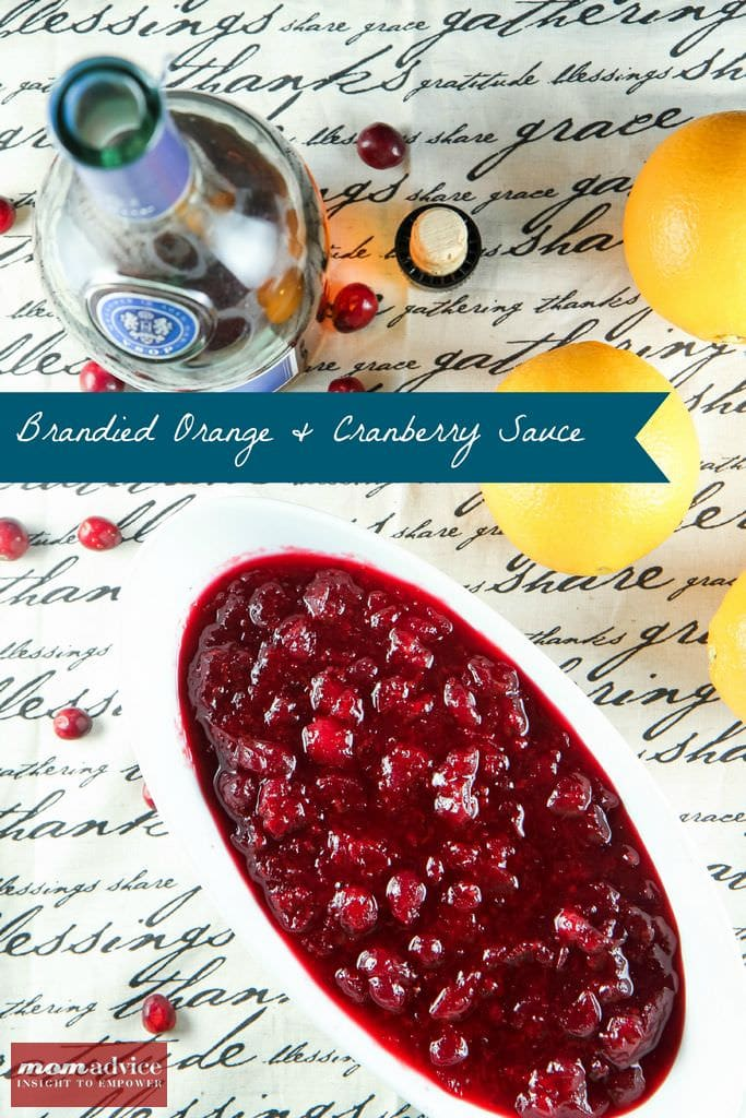 Make-Ahead: Brandied Orange & Cranberry Sauce