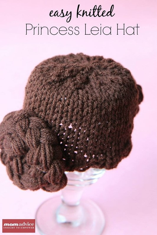 Knitted Princess Leia Hat