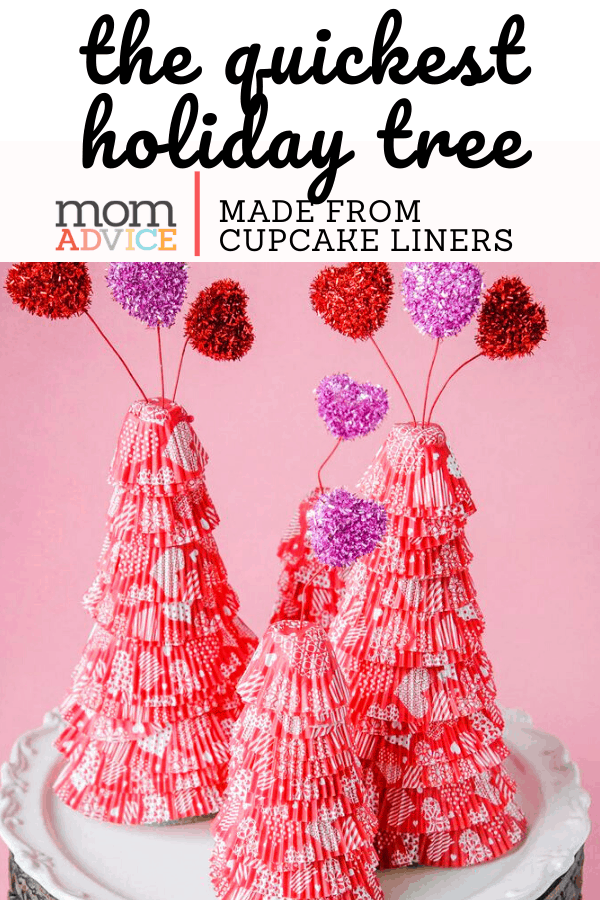 Easy Cupcake Liner Holiday Trees