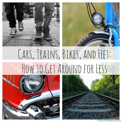 Cars, Trains, Bikes, and Feet:  How to Get Around for Less