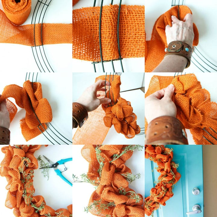 Autumn Burlap Wreath Tutorial from MomAdvice.com