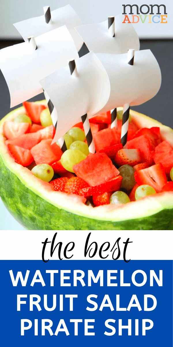 Watermelon Fruit Salad Pirate Ship from MomAdvice.com