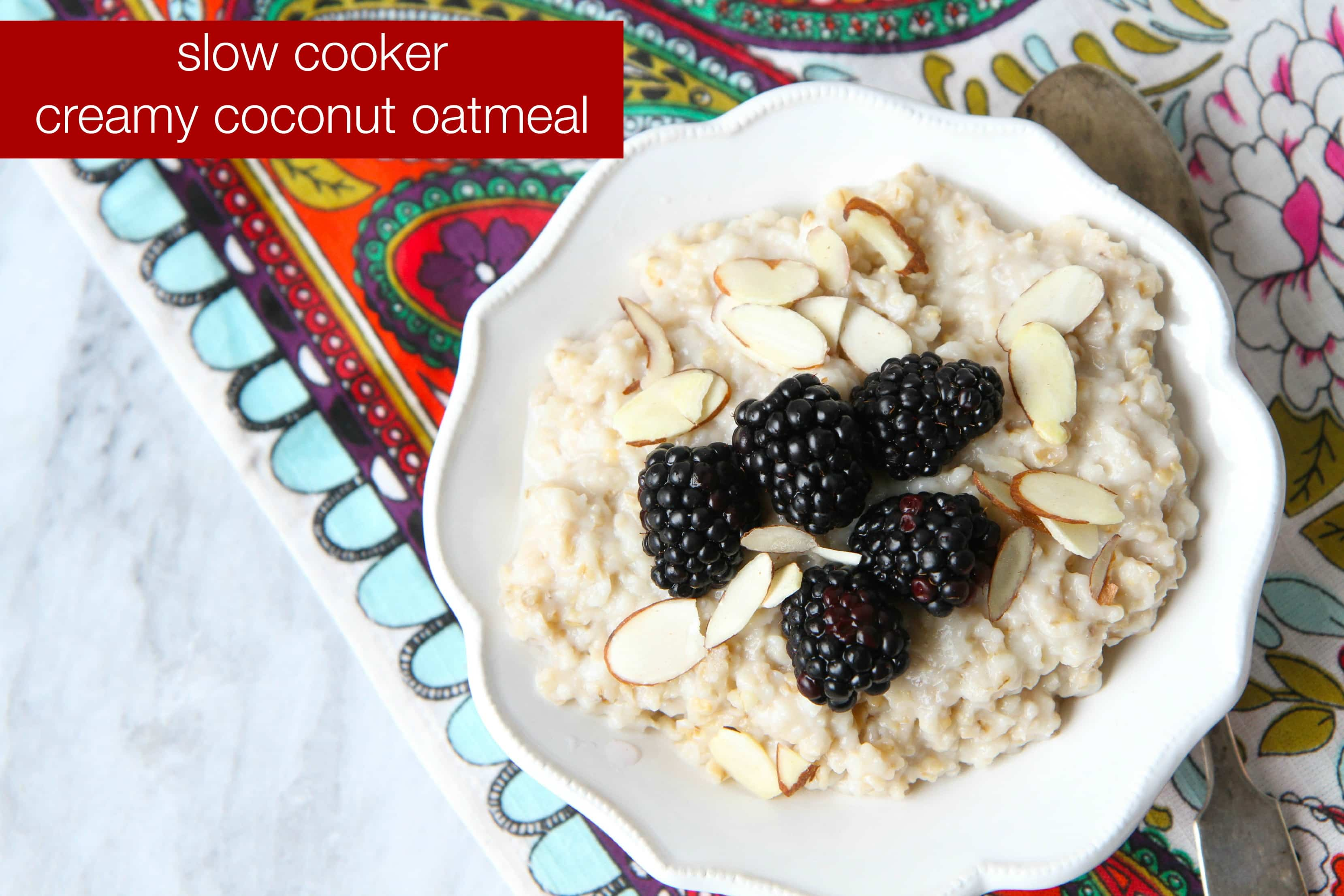 Slow Cooker Creamy Coconut Oatmeal (& Tips for Perfect ...