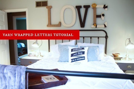 DIY Yarn Wrapped Letters Tutorial