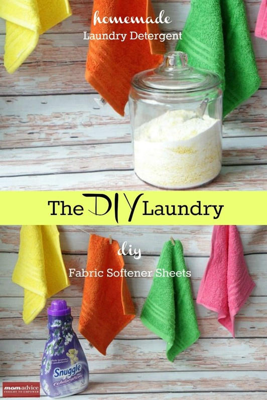 The DIY Laundry: Detergent & Fabric Softener Sheets
