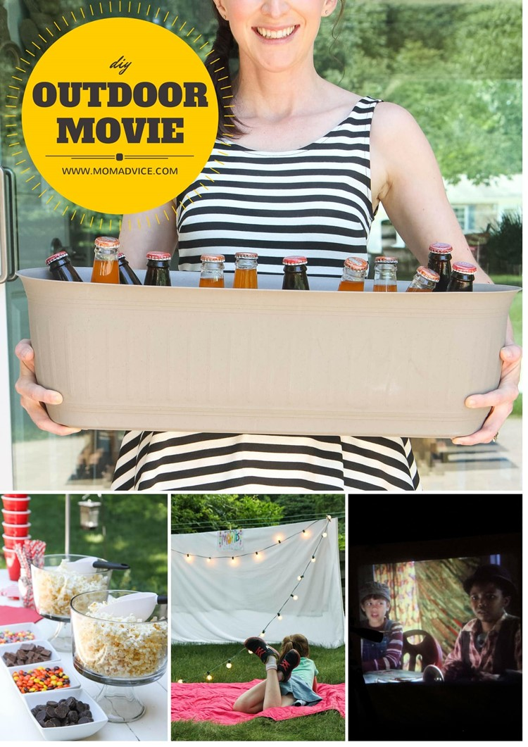 DIY Outdoor Movie Night / MomAdvice