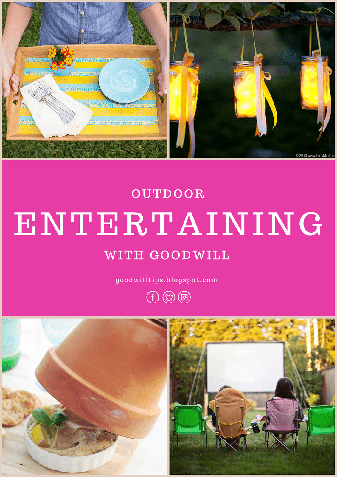 Beautiful Ideas for Outdoor Entertaining With Goodwill