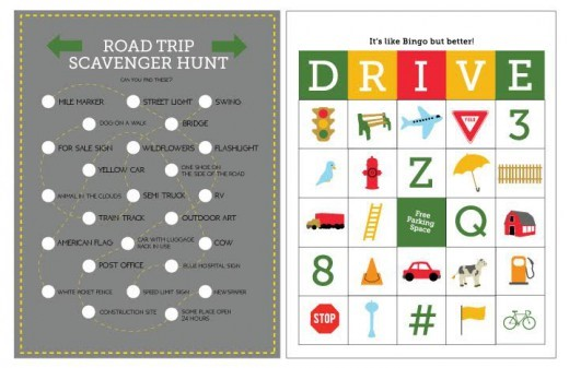 Printable Travel Games