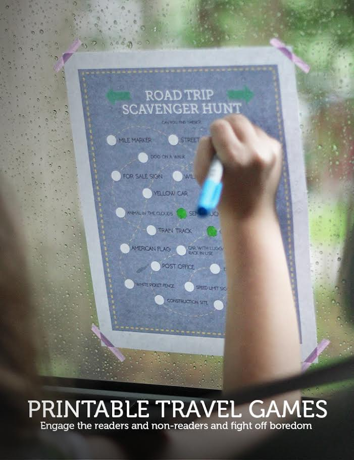 Printable Travel Games from MomAdvice.com