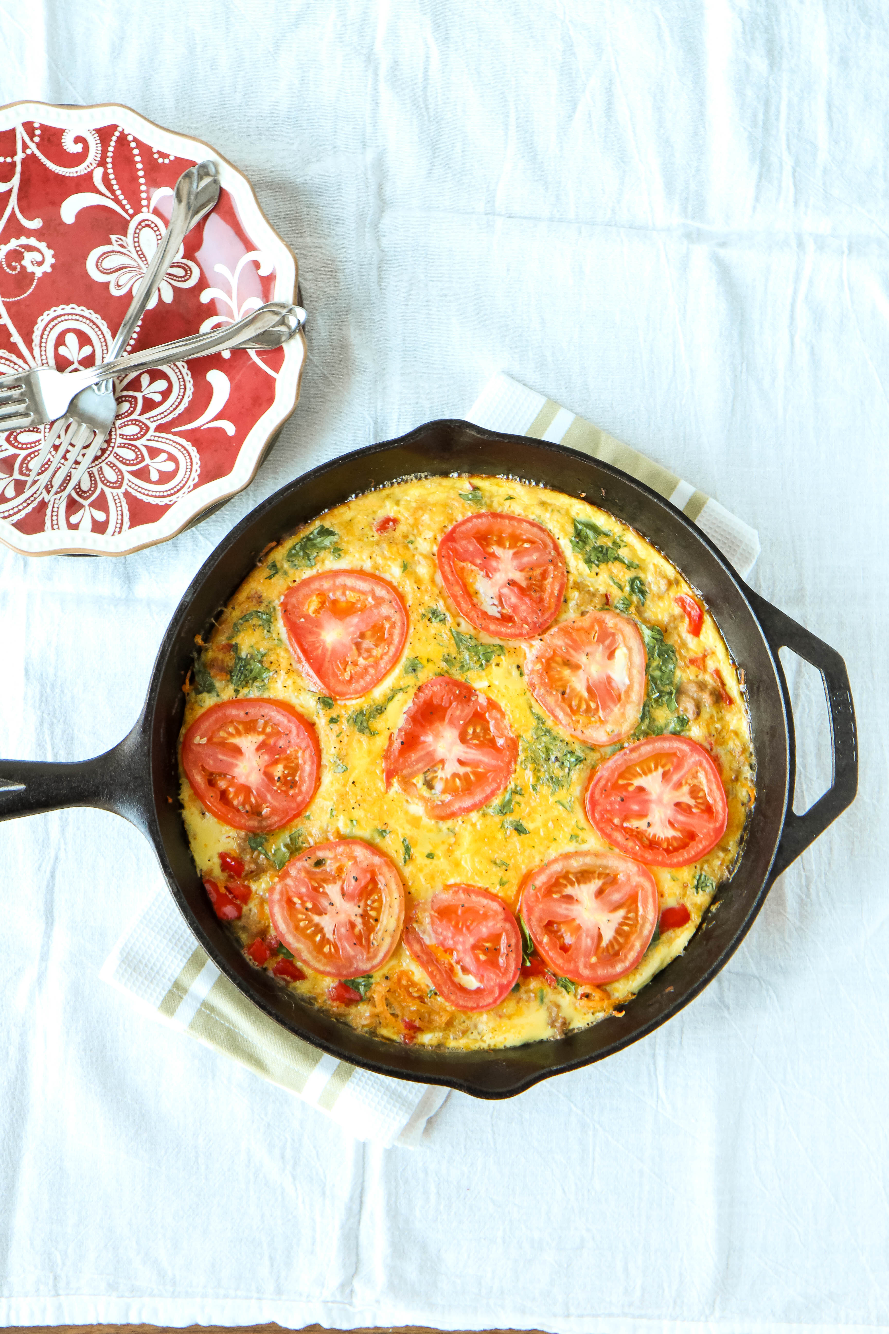 Easy Sausage & Vegetable Frittata from MomAdvice.com