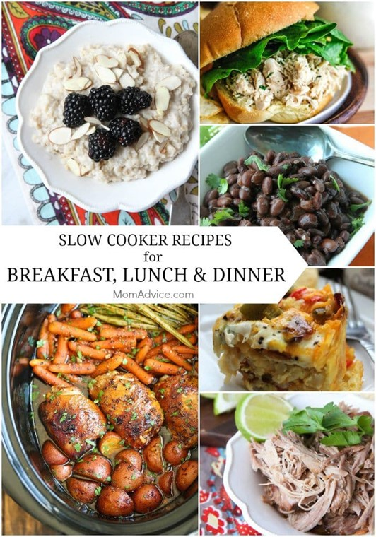 Slow Cooker Recipes for Breakfast, Lunch & Dinner
