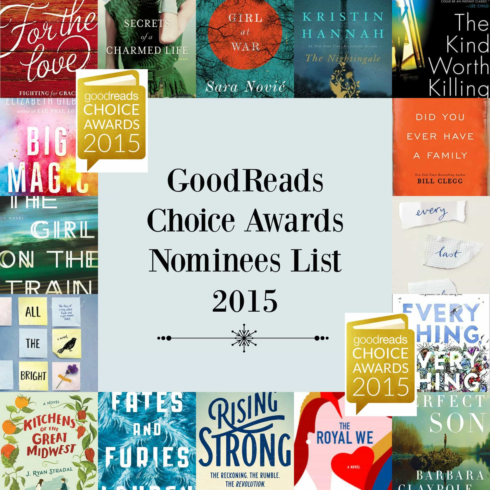 2015 GoodReads Choice Awards Nominees