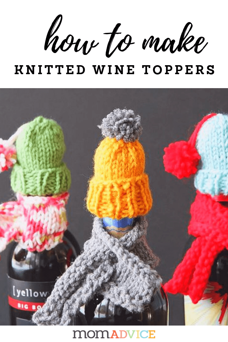 How to Make Knitted Wine Hats & Scarves Wine Toppers