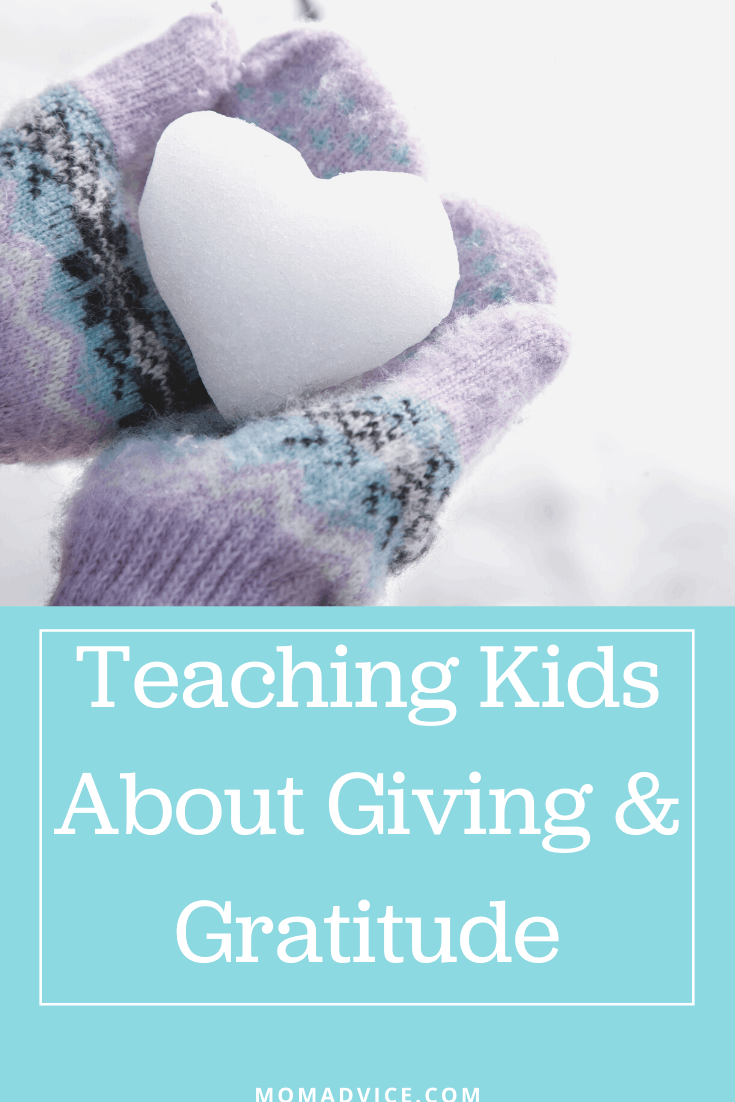 Giving and Gratitude for kids / MomAdvice.com