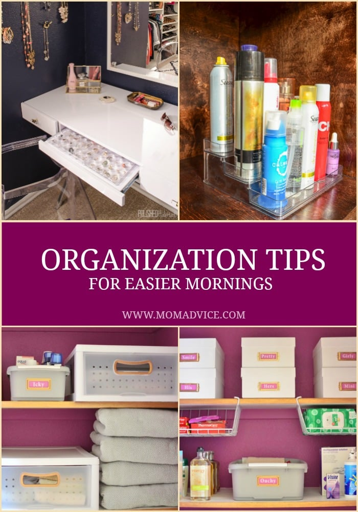 Organization Tips for Easier Mornings