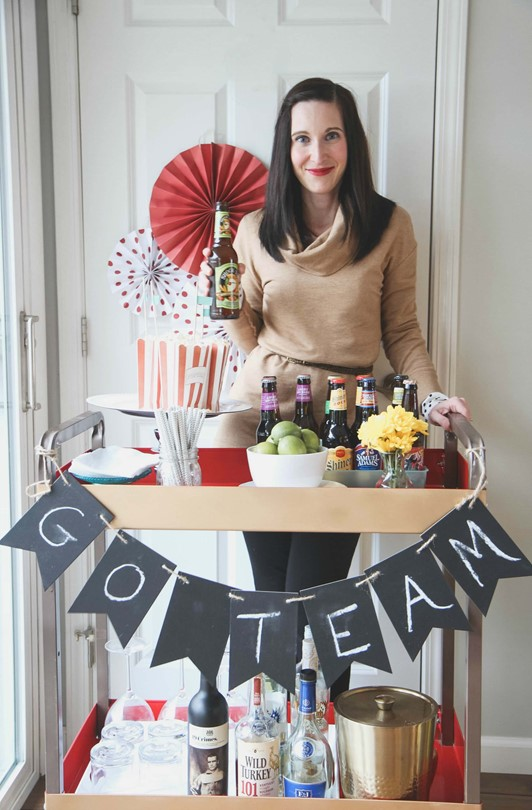 DIY Game Day Bar Cart