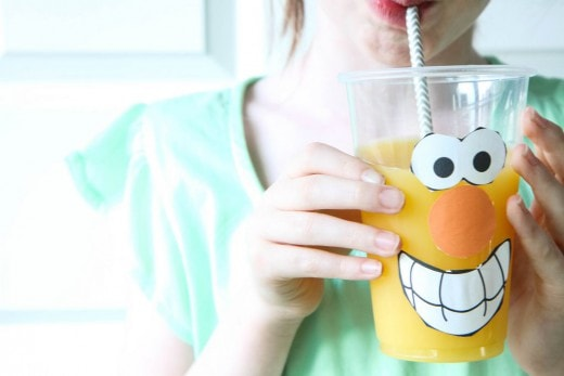 Celebrate National OJ Day (Funny Faces Printable)