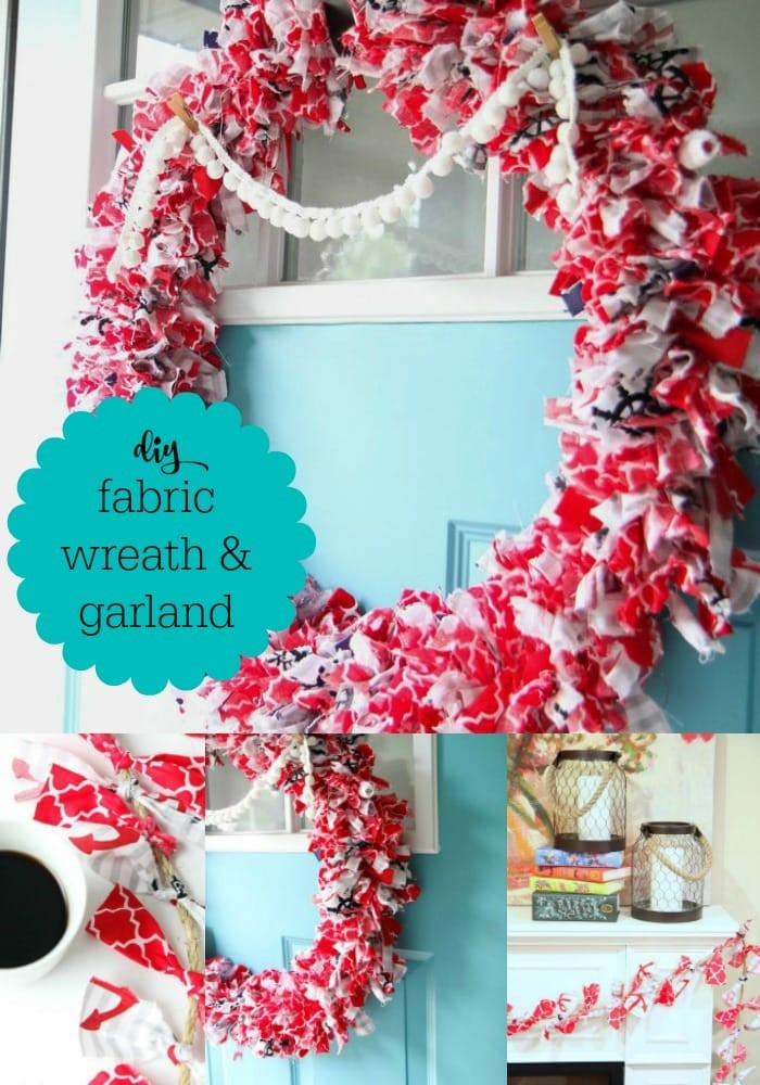 How to Make a Fabric Wreath and Garland