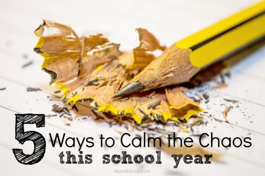 5 Ways to Calm the Chaos This School Year