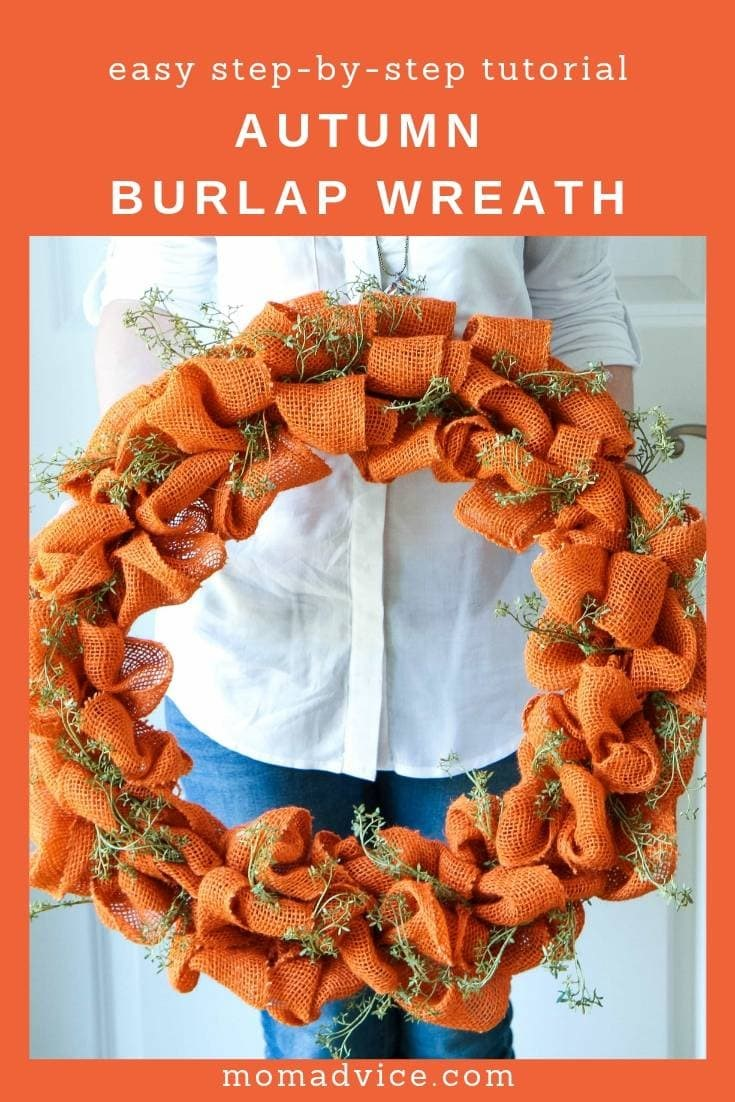 Handmade Autumn Burlap Wreath Tutorial Momadvice