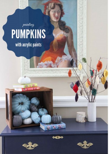 How to Paint Pumpkins With Acrylic Paints from MomAdvice.com