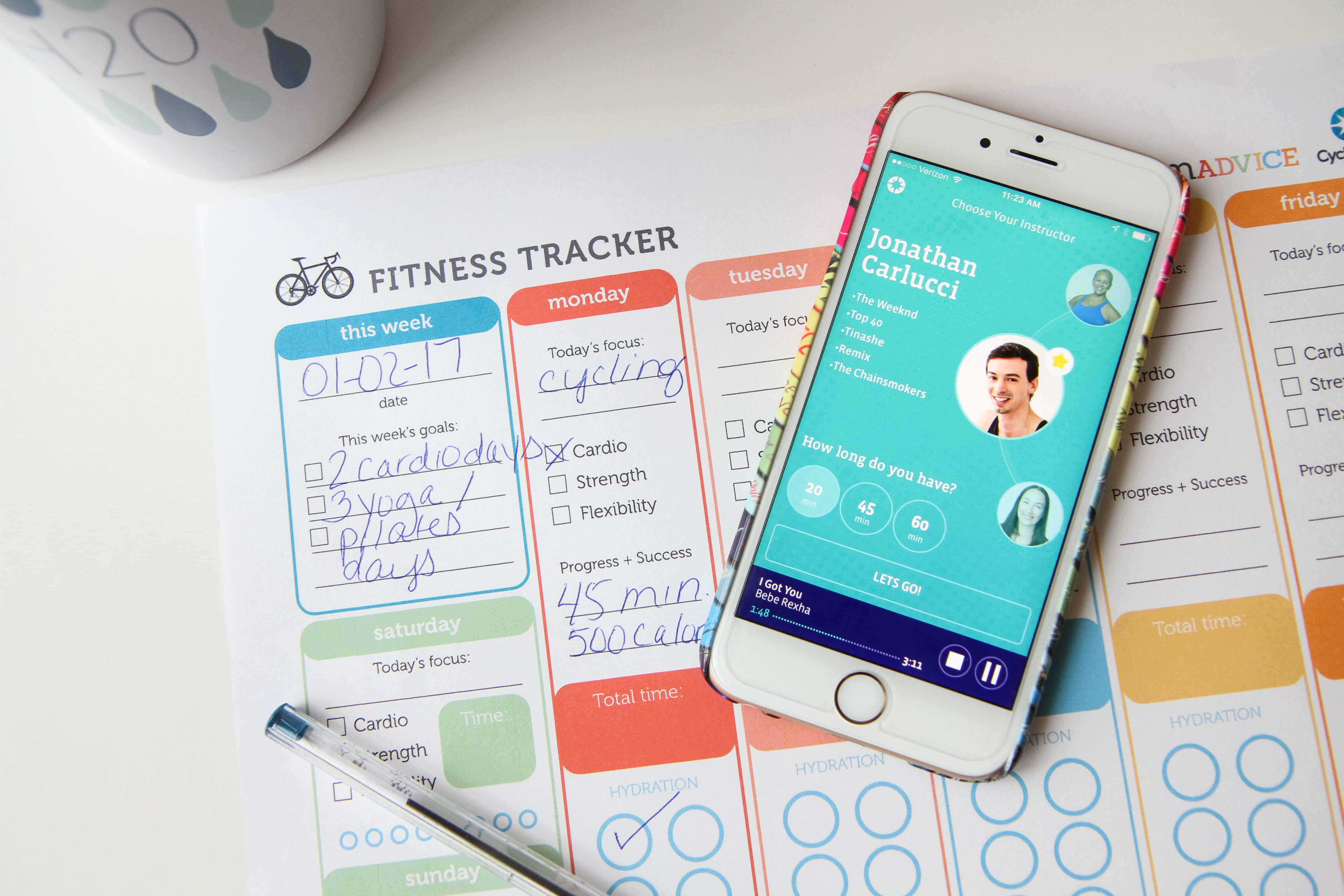 Boutique Workouts At Home (FREE Printable Fitness Tracker)