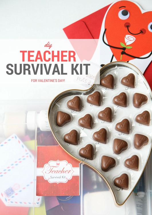 DIY Teacher Survival Kit Gift (FREE Printable!)