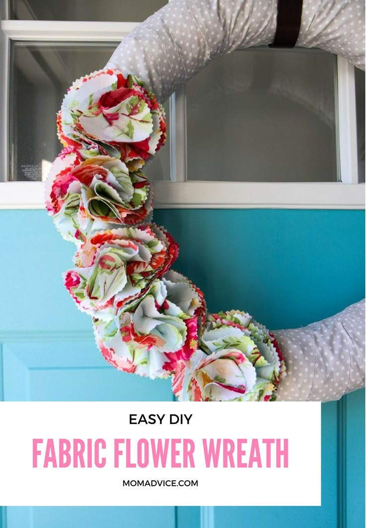 fabric floral wreath