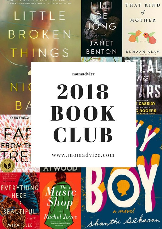 MomAdvice 2018 Book Club Selections
