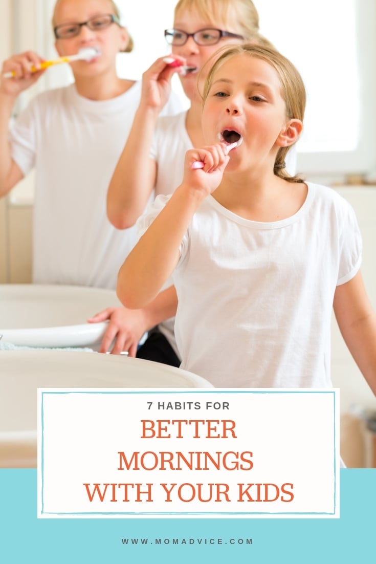 7 Habits for Better Mornings With Kids from MomAdvice.com
