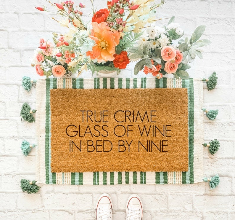true crime welcome mat