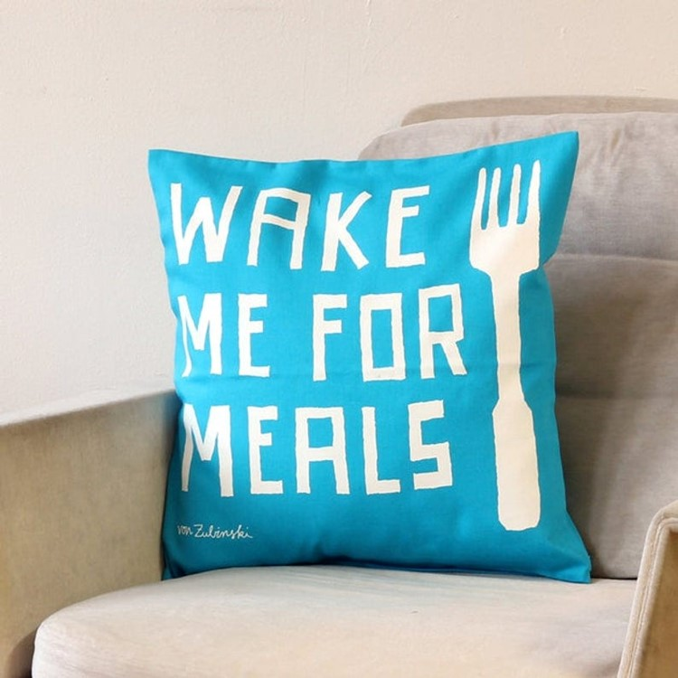 wake me for meals pillow