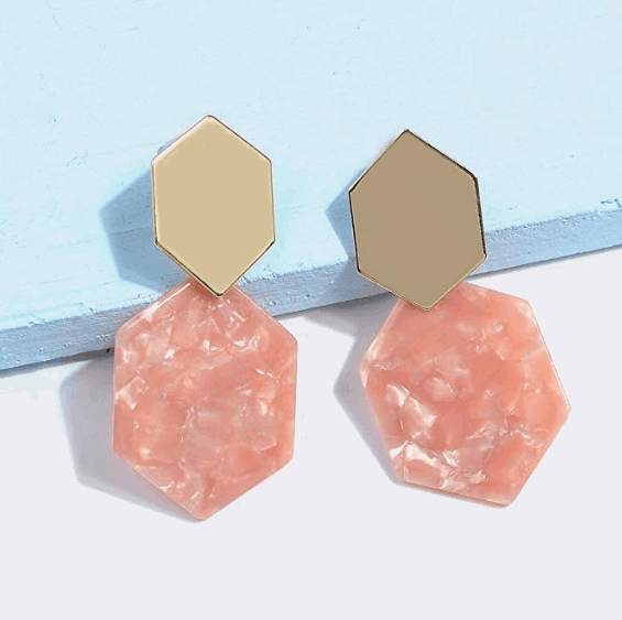 acrylic resin earrings
