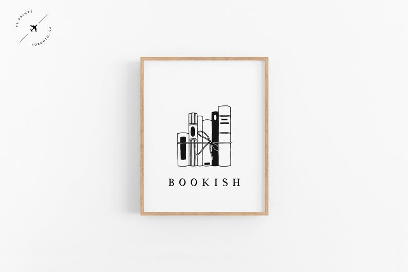 bookish printable