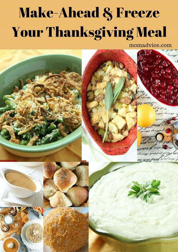 Make Ahead Thanksgiving Meal Ideas from MomAdvice.com