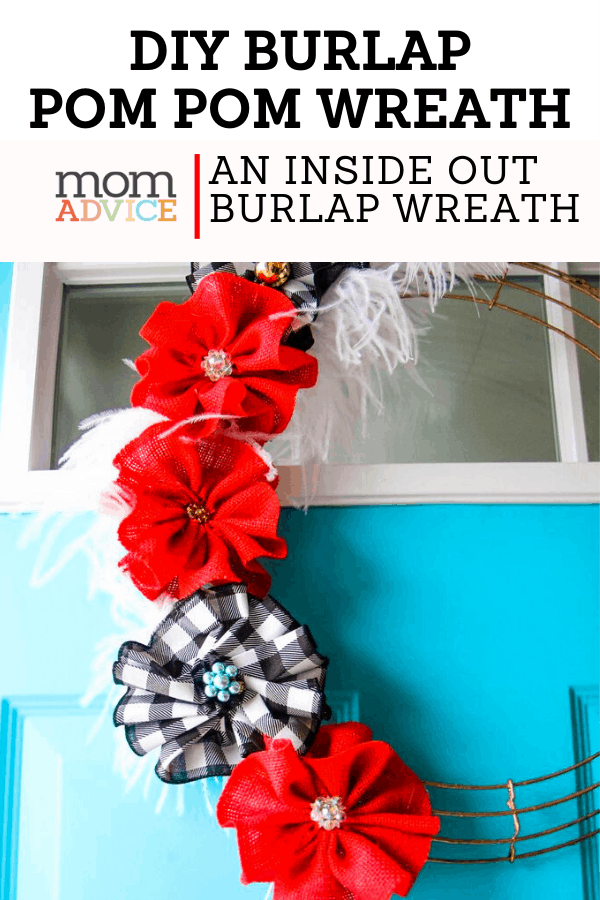 DIY Burlap Pom Pom Wreath Header