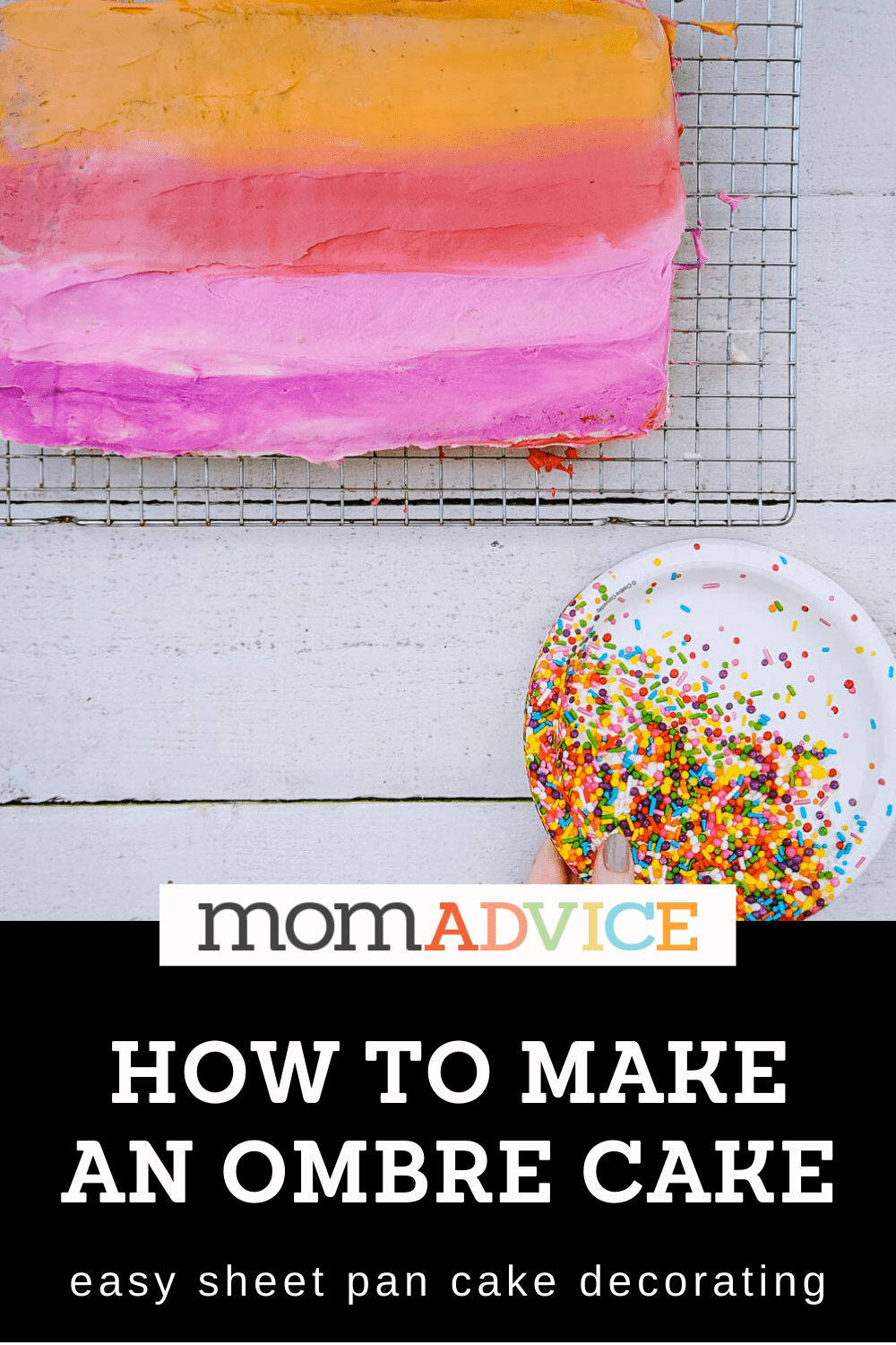 How to Make an Ombre Cake from MomAdvice.com